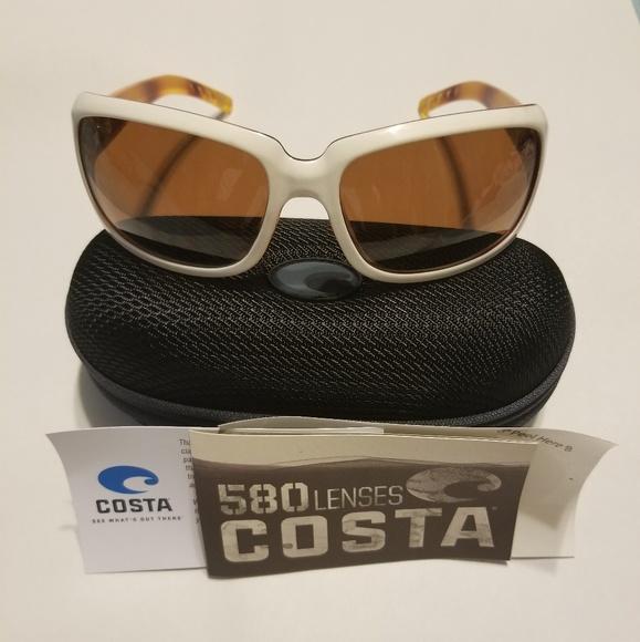 384cb741794b2 Costa Del Mar 580 Sunglasses Isabela White 580P